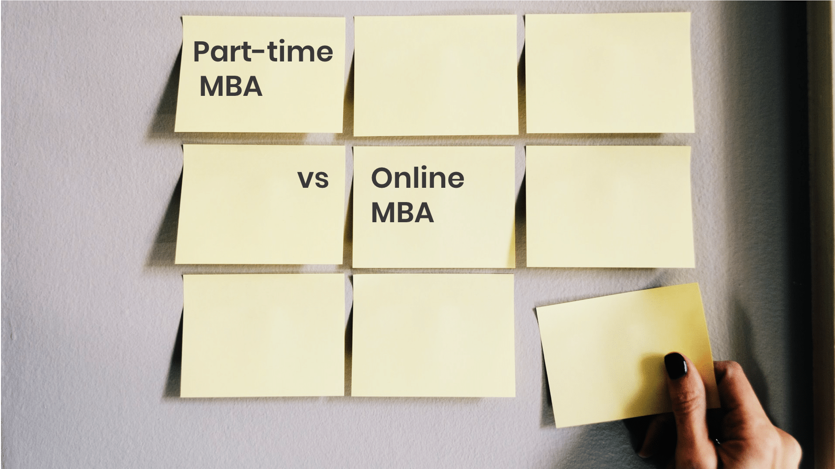 Difference between an Online MBA and a Part-Time MBA